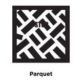 Parkettsymbolsvektor som isoleras på vit bakgrund, logobegreppsnolla vektor illustrationer