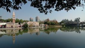 parkfönstervärld Fotografering för Bildbyråer