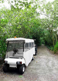 Parkförsterfahrzeug im Naturreservat Lizenzfreies Stockfoto