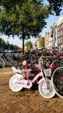 Parkfahrräder, Amsterdam stockfoto