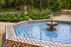Parkgärten Spanien Sevillas Maria Luisa Stockbild