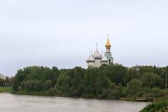 Parkgebied in het centrum van Vologda Royalty-vrije Stock Fotografie