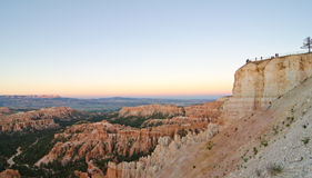 Parkgoers enjoying a sunset over Bryce Canyon National Park, UT Royalty Free Stock Image