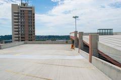 Parkhaus in im Stadtzentrum gelegenem Harrisburg, Pennsylvania stockbild
