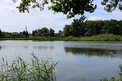 Parki i jeziora Dani Fotografia Royalty Free