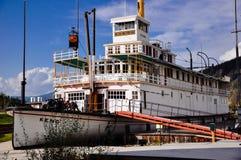 Parki Kanada: S S Keno Krajowy Historyczny miejsce w Dawson mieście, Yukon obraz royalty free