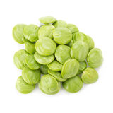 Parkia speciosa seeds or bitter bean on white background Stock Image