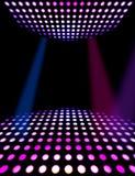 Parkiet taneczny dyskoteki plakata tło Obraz Royalty Free