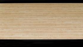 Parkietowe drewniane podłogowe czarne strzały kręgle bawją się obrazy stock