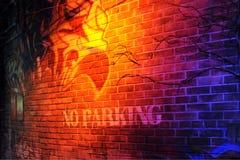 parking żadna ściana zdjęcie royalty free