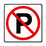 Parking żadny znak royalty ilustracja