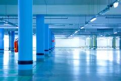 Parking. Empty underground car parking lot Stock Image