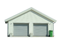 Parking. New garage with a garbage can Stock Photo