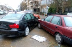 Parking accident Royalty Free Stock Photos