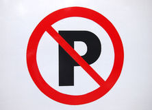 parking żadny znak obraz royalty free