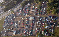 Parking from the air Stock Images