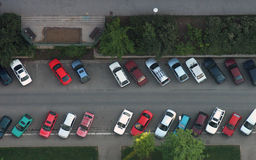Parking from the air Royalty Free Stock Image