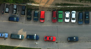 Parking from the air Royalty Free Stock Photo