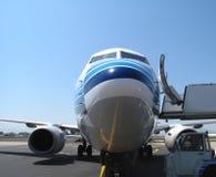 Parking aircraft Royalty Free Stock Photo