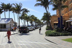 Parking Along Deerfield Beach Stock Image