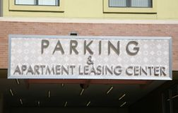 Parking and Apartment Leasing Center Stock Photography