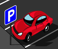 Parking area Stock Photography