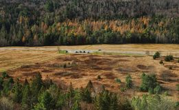 Parking area in the Adirondack Mountains Royalty Free Stock Images
