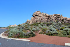 Parking area   at Canal Rocks west Australia. The beautiful   approach to  Canal Rocks south west Australia displays the iconic rock formations and a walkway Royalty Free Stock Images