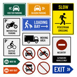 Parking Area Compound Signboards Stock Image