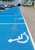 Parking area for disabled Stock Photo