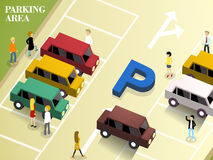 Parking area Stock Photo