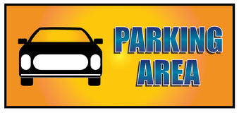 Parking area. Illustration of a parking area sign Stock Image
