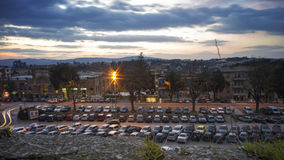 Parking area in old town Stock Photography