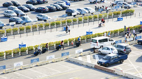 Parking area at the port of Naples Royalty Free Stock Images