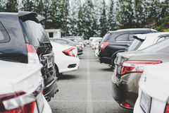 Parking area with street Royalty Free Stock Photos