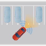Parking assist system image. Royalty Free Stock Photo