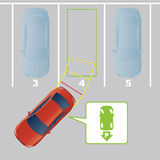 Parking assist system image. Stock Image