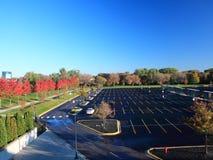 Parking au Minnesota à la saison d'automne Image libre de droits