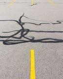 Parking avec la voie de pneu Photos libres de droits