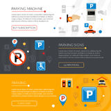 Parking Banners Set Royalty Free Stock Image