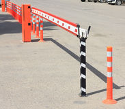 Parking barrier Royalty Free Stock Photography