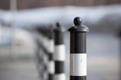 Parking Barrier on Paved Sidewalk Stock Photography