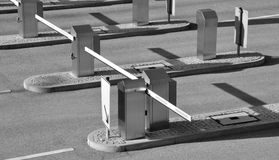 Parking barriers Royalty Free Stock Images