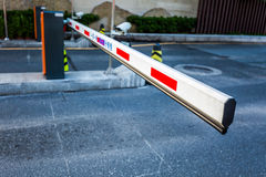 Parking barriers Royalty Free Stock Photography