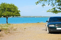 Parking on the beach Stock Image