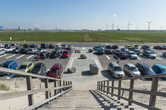 Parking Beach Maasvlakte Rotterdam Stock Image