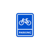 Parking bicycle roadsign isolated Stock Images