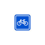 Parking bicycle roadsign isolated Royalty Free Stock Image