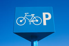 Parking Bicycle Sign Stock Image