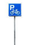 Parking bicycle sign Stock Photos